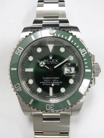 size 40 56337 223ac ロレックス緑サブ116610LVの買取査定実績 - カイトリマン